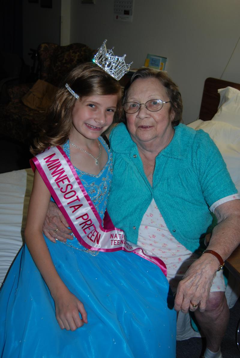 My grandmother and me the night I was crowned Miss MN Pre-Teen